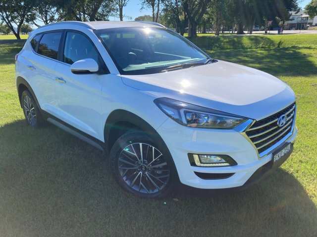 Demo Hyundai Tucson TL3 MY21 Elite D-CT AWD South Grafton, 2020 Hyundai Tucson TL3 MY21 Elite D-CT AWD Pure White 7 Speed Sports Automatic Dual Clutch Wagon