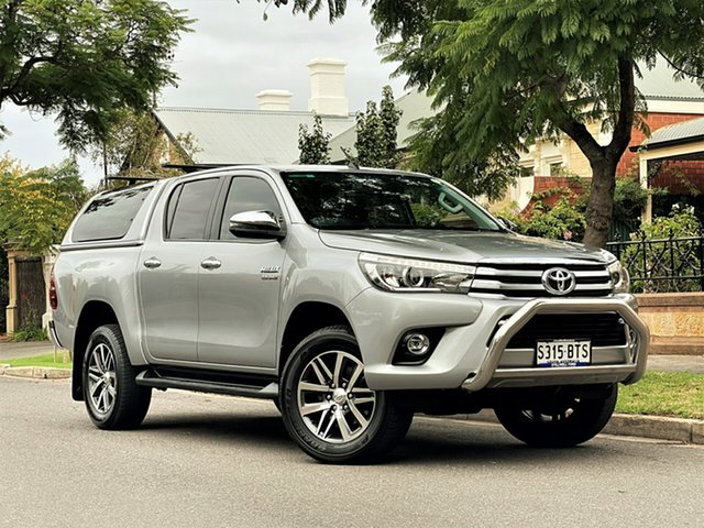 Used Toyota Hilux GUN126R SR5 Double Cab Hyde Park, 2017 Toyota Hilux GUN126R SR5 Double Cab Silver 6 Speed Sports Automatic Utility