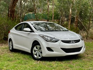 2012 Hyundai Elantra MD Active Creamy White 6 Speed Sports Automatic Sedan.