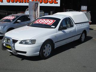 2003 Ford Falcon BA XL White 4 Speed Auto Seq Sportshift Utility.