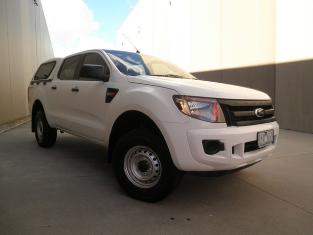 Used Ford Ranger PX XL Hi-Rider Cheltenham, 2013 Ford Ranger PX XL Hi-Rider White Silk 6 Speed Manual Utility