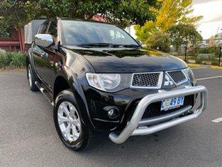 2011 Mitsubishi Triton MN MY11 GLX-R Double Cab Black 5 Speed Manual Utility.