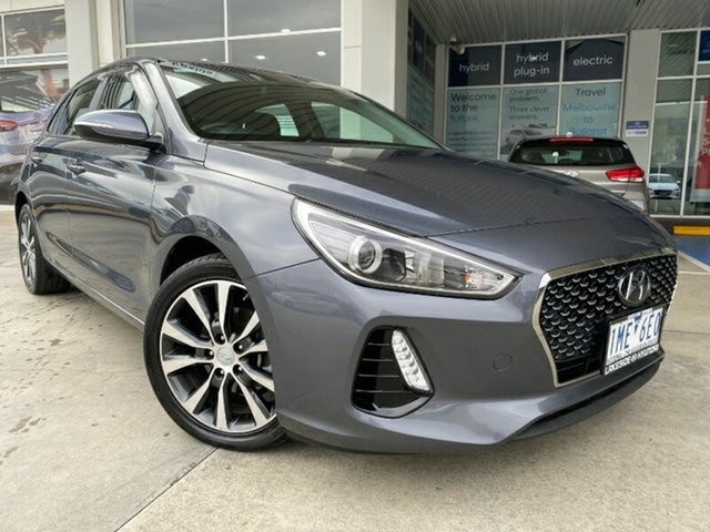 Used Hyundai i30 PD MY18 Elite D-CT Ravenhall, 2017 Hyundai i30 PD MY18 Elite D-CT Grey 7 Speed Sports Automatic Dual Clutch Hatchback