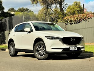2018 Mazda CX-5 KF4WLA Touring SKYACTIV-Drive i-ACTIV AWD Pearl White 6 Speed Sports Automatic Wagon.