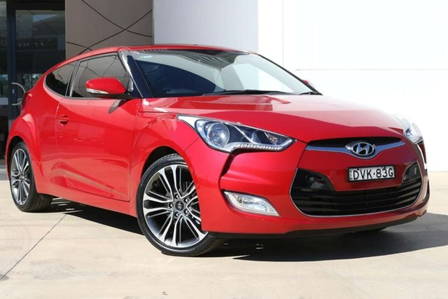 Used Hyundai Veloster FS5 Series II Street Coupe Tuggerah, 2016 Hyundai Veloster FS5 Series II Street Coupe Red 6 Speed Manual Hatchback