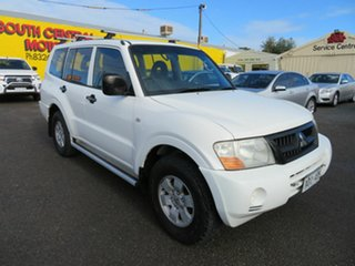 2003 Mitsubishi Pajero NP GLX LWB (4x4) White 5 Speed Auto Sports Mode Wagon.