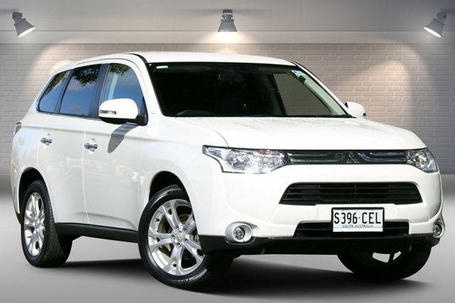 Used Mitsubishi Outlander ZJ MY14 Aspire 4WD Nailsworth, 2013 Mitsubishi Outlander ZJ MY14 Aspire 4WD White 6 Speed Constant Variable Wagon