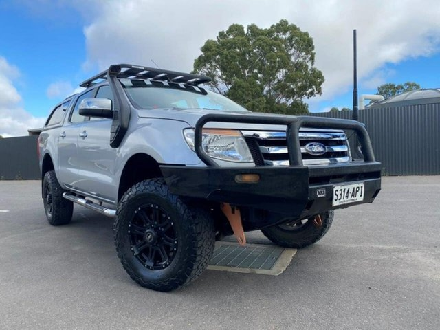 Used Ford Ranger PX XLT Double Cab Clare, 2012 Ford Ranger PX XLT Double Cab Silver 6 Speed Sports Automatic Utility