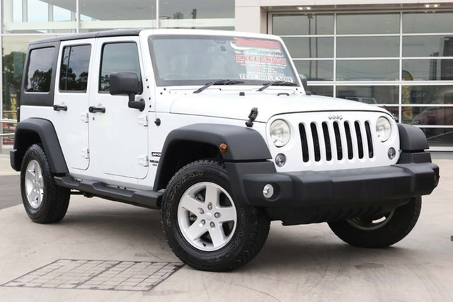 Used Jeep Wrangler JK MY2016 Unlimited Sport Liverpool, 2016 Jeep Wrangler JK MY2016 Unlimited Sport White 5 Speed Automatic Softtop