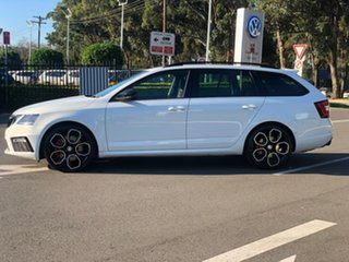 2017 Skoda Octavia NE MY18 RS Sedan DSG 245 White 7 Speed Sports Automatic Dual Clutch Liftback