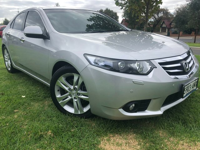 Used Honda Accord Euro CU MY11 Luxury Hindmarsh, 2011 Honda Accord Euro CU MY11 Luxury Silver 5 Speed Automatic Sedan