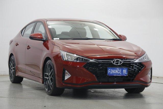 Used Hyundai Elantra AD.2 MY20 Sport Premium Victoria Park, 2020 Hyundai Elantra AD.2 MY20 Sport Premium Fiery Red 6 Speed Manual Sedan