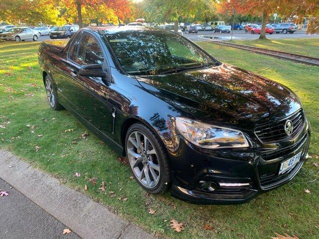 Used Holden Ute VF MY14 SS V Ute Launceston, 2013 Holden Ute VF MY14 SS V Ute Black 6 Speed Manual Utility