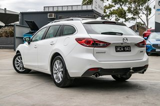 2014 Mazda 6 GJ1021 Touring SKYACTIV-Drive Snowflake White Pearl 6 Speed Sports Automatic Wagon.