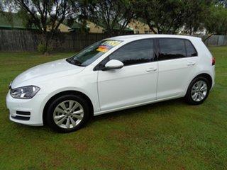 2015 Volkswagen Golf VII MY15 90TSI White 6 Speed Manual Hatchback.