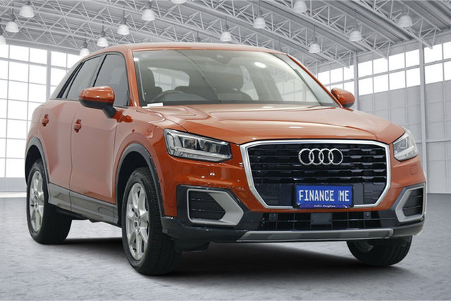 Used Audi Q2 GA MY18 design S Tronic Victoria Park, 2018 Audi Q2 GA MY18 design S Tronic Orange 7 Speed Sports Automatic Dual Clutch Wagon