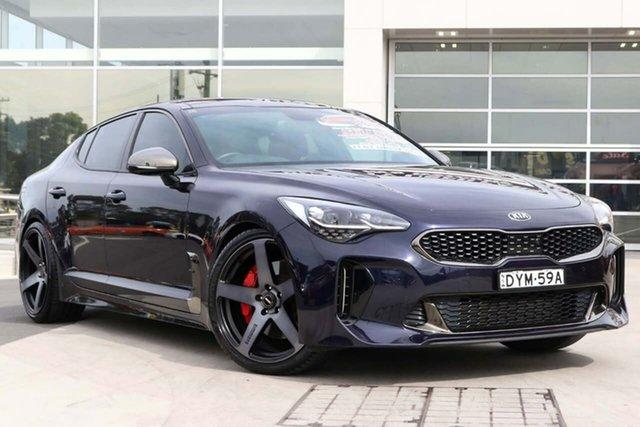 Used Kia Stinger CK MY18 GT Fastback Liverpool, 2018 Kia Stinger CK MY18 GT Fastback Deep Chroma Blue 8 Speed Sports Automatic Sedan