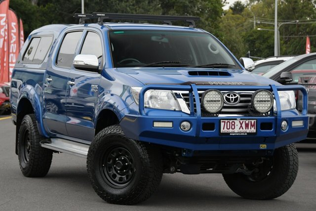Used Toyota Hilux KUN26R MY14 SR5 Double Cab Aspley, 2014 Toyota Hilux KUN26R MY14 SR5 Double Cab Blue 5 Speed Manual Utility