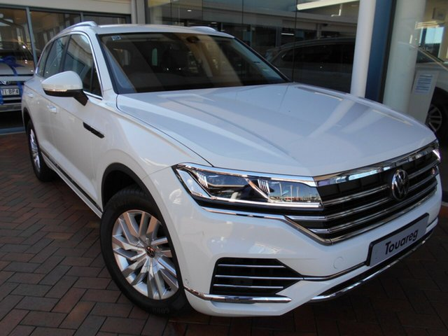 New Volkswagen Touareg CR MY21 170TDI Tiptronic 4MOTION Toowoomba, 2020 Volkswagen Touareg CR MY21 170TDI Tiptronic 4MOTION Pure White 8 Speed Sports Automatic Wagon