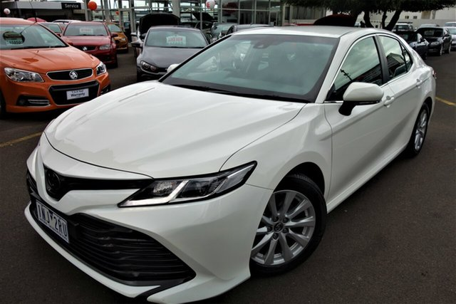Used Toyota Camry ASV70R Ascent Seaford, 2018 Toyota Camry ASV70R Ascent White 6 Speed Sports Automatic Sedan