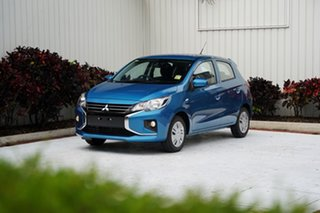 2021 Mitsubishi Mirage LB MY21 ES Cyber Blue 1 Speed Constant Variable Hatchback