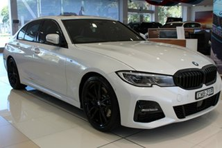 2020 BMW 3 Series G20 330i Steptronic M Sport Mineral White 8 Speed Sports Automatic Sedan.