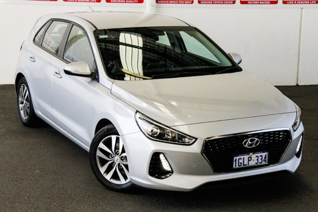 Pre-Owned Hyundai i30 PD Active Rockingham, 2018 Hyundai i30 PD Active Silver 6 Speed Auto Sequential Hatchback