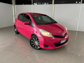 2012 Toyota Yaris NCP131R YRS Pink 4 Speed Automatic Hatchback.