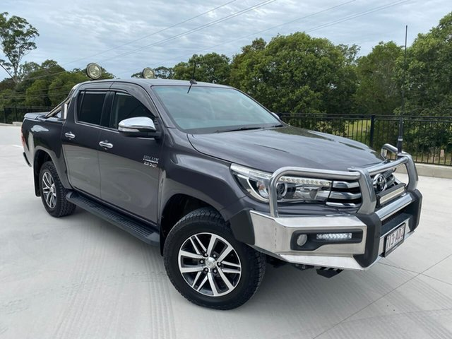 Used Toyota Hilux GUN126R SR5 Double Cab Cooroy, 2017 Toyota Hilux GUN126R SR5 Double Cab Grey 6 Speed Manual Utility