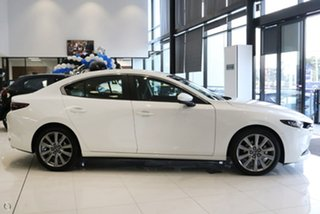 2021 Mazda 3 BP2SLA G25 SKYACTIV-Drive Evolve White 6 Speed Sports Automatic Sedan