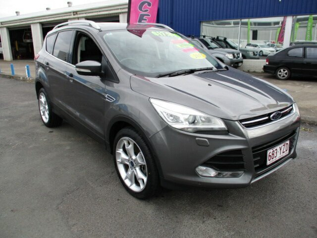 Used Ford Kuga AWD Woodridge, 2013 Ford Kuga TITANIUM AWD Grey 6 Speed Automatic Wagon