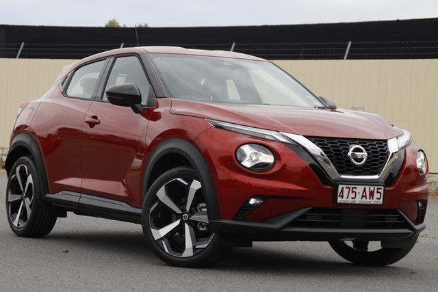 Demo Nissan Juke F16 ST-L DCT 2WD Bundamba, 2020 Nissan Juke F16 ST-L DCT 2WD Fuji Sunset Red 7 Speed Sports Automatic Dual Clutch Hatchback