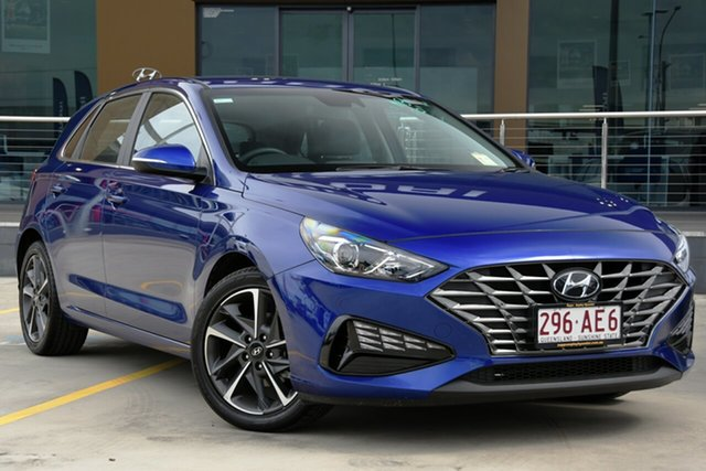Demo Hyundai i30 PD.V4 MY21 Active Aspley, 2020 Hyundai i30 PD.V4 MY21 Active Intense Blue 6 Speed Sports Automatic Hatchback