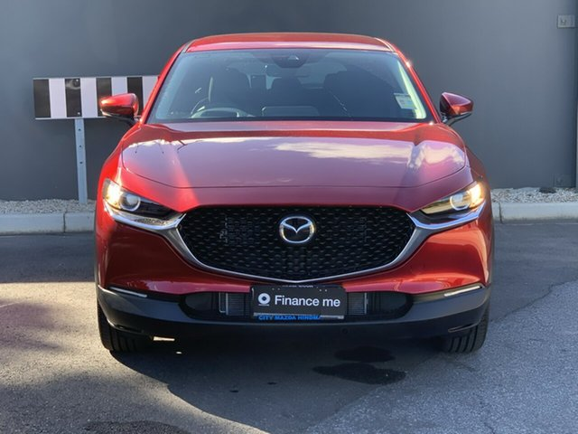 Demo Mazda CX-30 DM2W7A G20 SKYACTIV-Drive Evolve Hindmarsh, 2021 Mazda CX-30 DM2W7A G20 SKYACTIV-Drive Evolve Soul Red Crystal 6 Speed Sports Automatic Wagon