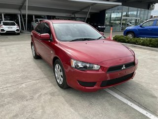 2013 Mitsubishi Lancer CJ MY13 ES Red 6 Speed Constant Variable Sedan.