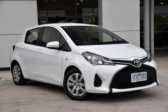 Used Toyota Yaris NCP130R Ascent Oakleigh, 2015 Toyota Yaris NCP130R Ascent White 5 Speed Manual Hatchback