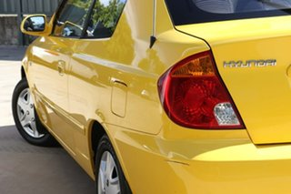 2003 Hyundai Accent LC MY03 GL Yellow 4 Speed Automatic Hatchback