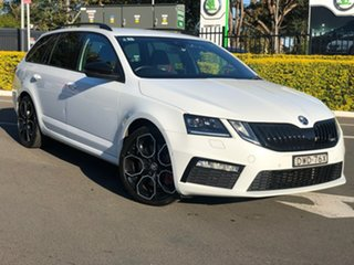 2017 Skoda Octavia NE MY18 RS Sedan DSG 245 White 7 Speed Sports Automatic Dual Clutch Liftback.