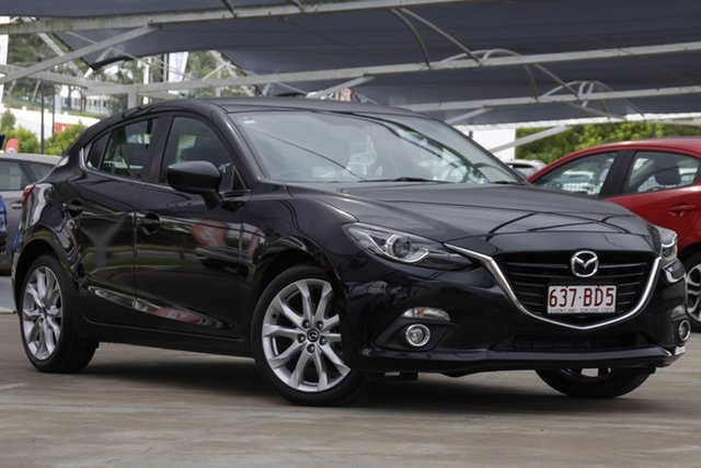 Used Mazda 3 BM5436 SP25 SKYACTIV-MT GT Bundamba, 2015 Mazda 3 BM5436 SP25 SKYACTIV-MT GT Jet Black 6 Speed Manual Hatchback