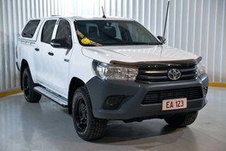 2016 Toyota Hilux GUN125R Workmate Double Cab White 6 Speed Sports Automatic Utility