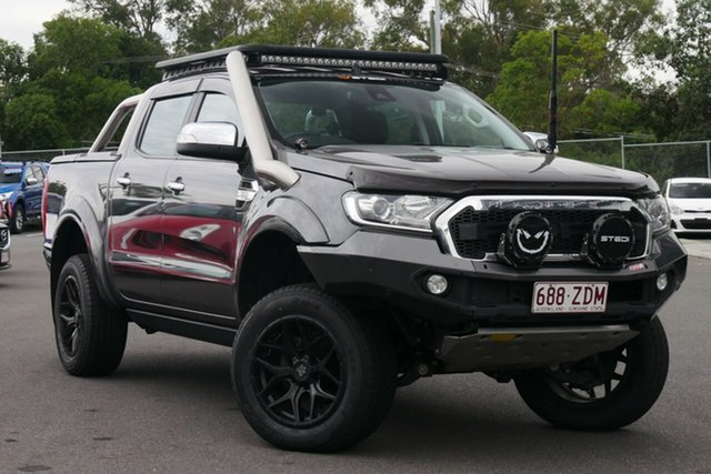 Used Ford Ranger PX MkII XLT Double Cab Hillcrest, 2017 Ford Ranger PX MkII XLT Double Cab Grey 6 Speed Sports Automatic Utility