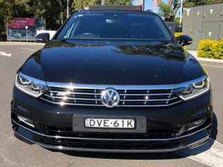 2017 Volkswagen Passat 3C (B8) MY18 206TSI DSG 4MOTION R-Line Black 6 Speed.