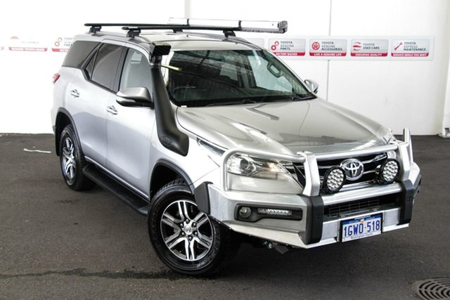 Pre-Owned Toyota Fortuner GUN156R GXL Rockingham, 2016 Toyota Fortuner GUN156R GXL Silver Sky 6 Speed Automatic Wagon