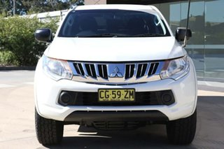 2015 Mitsubishi Triton MN MY15 GLX Double Cab 4x2 White 5 Speed Manual Utility