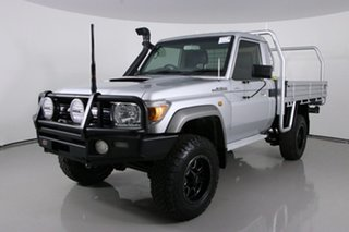2016 Toyota Landcruiser VDJ79R MY12 Update GXL (4x4) Silver 5 Speed Manual Cab Chassis.