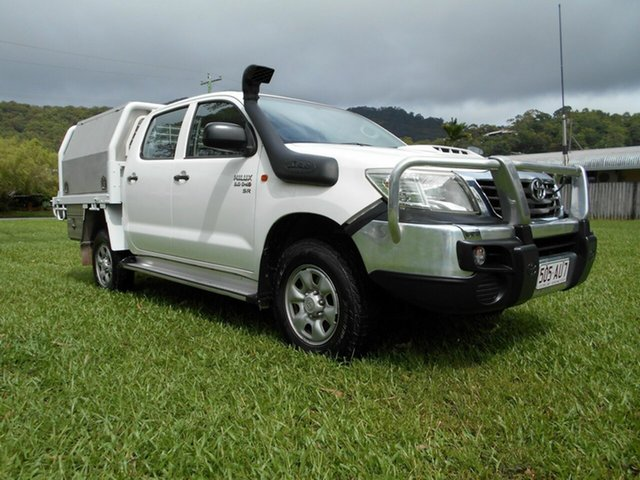 Used Toyota Hilux KUN26R MY12 SR (4x4) Bungalow, 2011 Toyota Hilux KUN26R MY12 SR (4x4) White 5 Speed Manual Dual Cab Pick-up