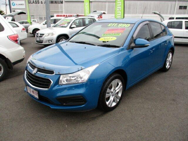 Used Holden Cruze Woodridge, 2015 Holden Cruze EQUIPE Blue 4 Speed Automatic Hatchback