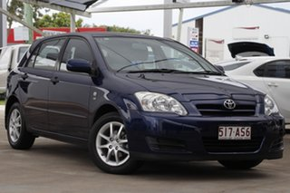 2004 Toyota Corolla ZZE122R 5Y Ascent Blue 4 Speed Automatic Hatchback.