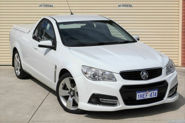 Used Holden Ute VF MY14 SV6 Ute Mount Lawley, 2014 Holden Ute VF MY14 SV6 Ute White 6 Speed Sports Automatic Utility
