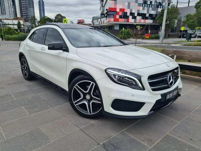 Used Mercedes-Benz GLA-Class X156 806MY GLA250 DCT 4MATIC South Melbourne, 2016 Mercedes-Benz GLA-Class X156 806MY GLA250 DCT 4MATIC White 7 Speed Sports Automatic Dual Clutch